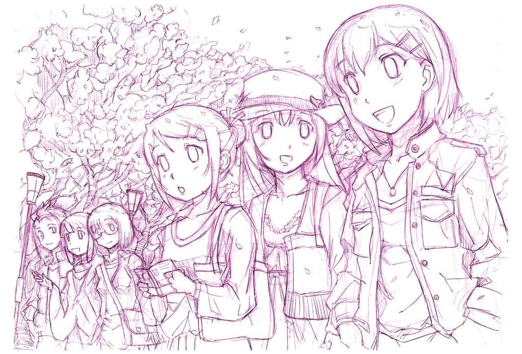 お花見女子会 CG