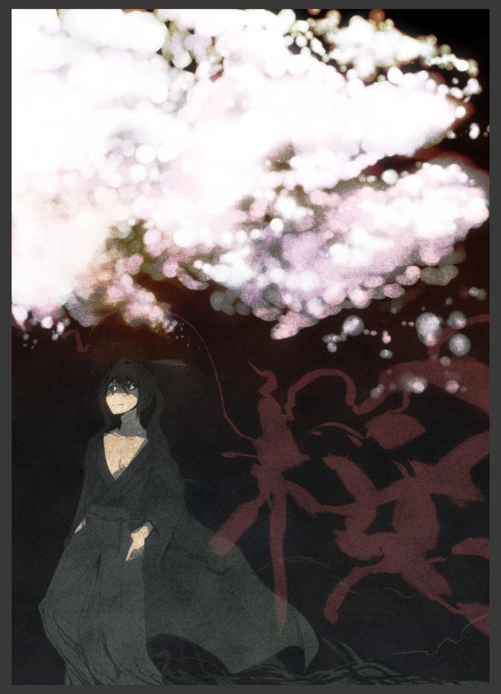 一文字桜 CG