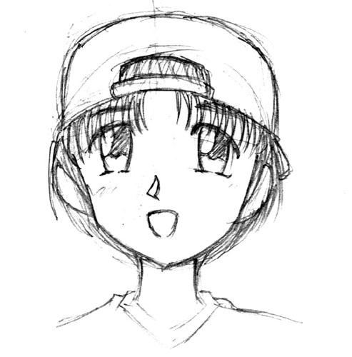 りん姉(前期型)with野球帽  CG