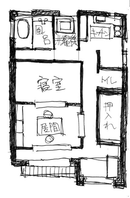 和泉家見取り図  CG