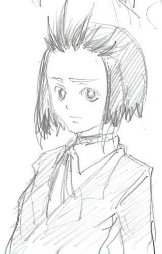 小路雪姫ラフ  CG