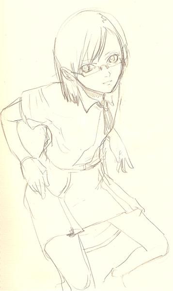奈々紫ラフ  CG