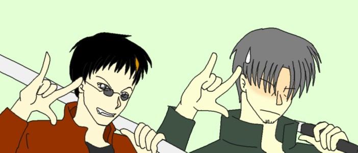 銀二とウヤダでキラッ☆  CG