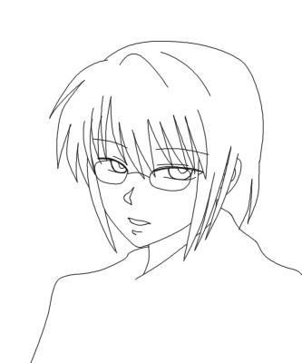 睦生、メガネあり CG