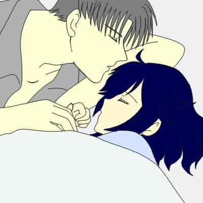 添い寝 色つき  CG