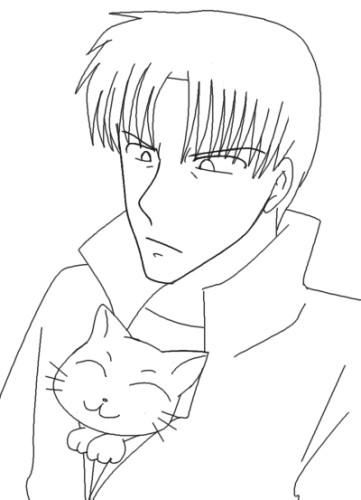 猫は懐に CG