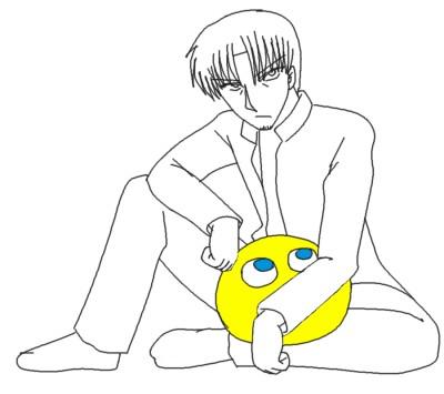ウヤダ、座る ぷよつき CG