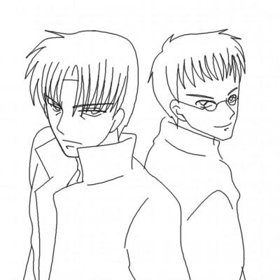 銀二とウヤダ CG