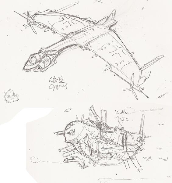 独逸超力飛行戦闘団:機体1  CG