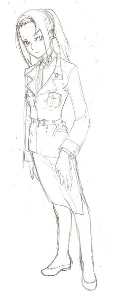 軍服風スーツのサキ  CG