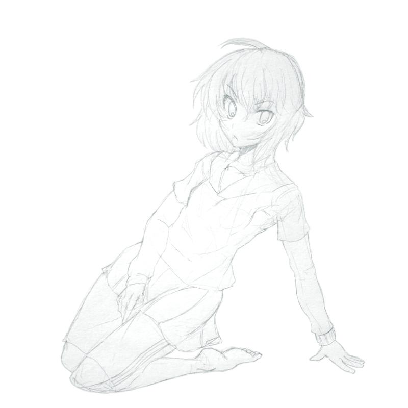 千石コスJKジャージラフ  CG