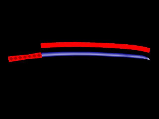 アストリオル・ツヴァイの居合刀  CG