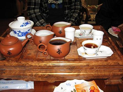昼の部の中国茶