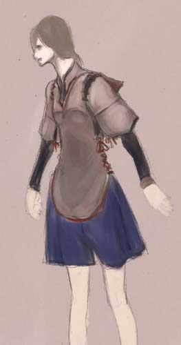 服装試作ラフ1(カラー)  CG