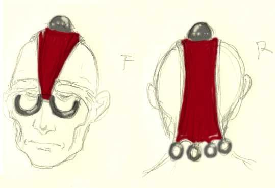 服装試作ラフ2(珍装飾品)  CG