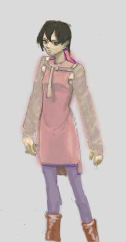 服装試作ラフ5(カラー)  CG